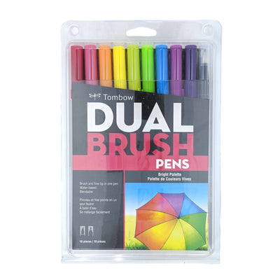 Dual Brush Pens - Bright (10 pack)