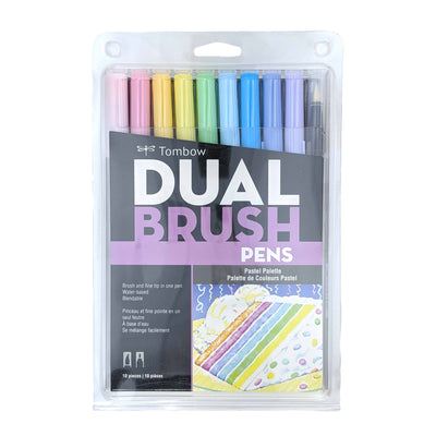 Dual Brush Pens-Pastel (10 Pack)
