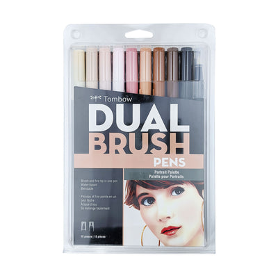 Dual Brush Pens - Portrait (10 pack)