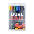 Dual Brush Pens-Primary (10 Pack)