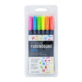 Fudenosuke Neon Brush Pen Set (6 pack)