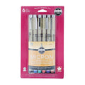 Pigma Micron Assorted Pens - 6 Color Set (.25mm)