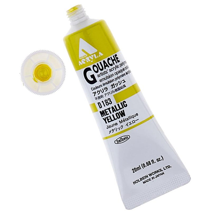 Acryla Gouache 20ml Paint Tubes (Metallic Colors)