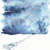 Winter Snowstorm Watercolor Paint Kit