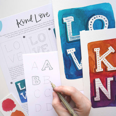 Kind Love Lettering Kit