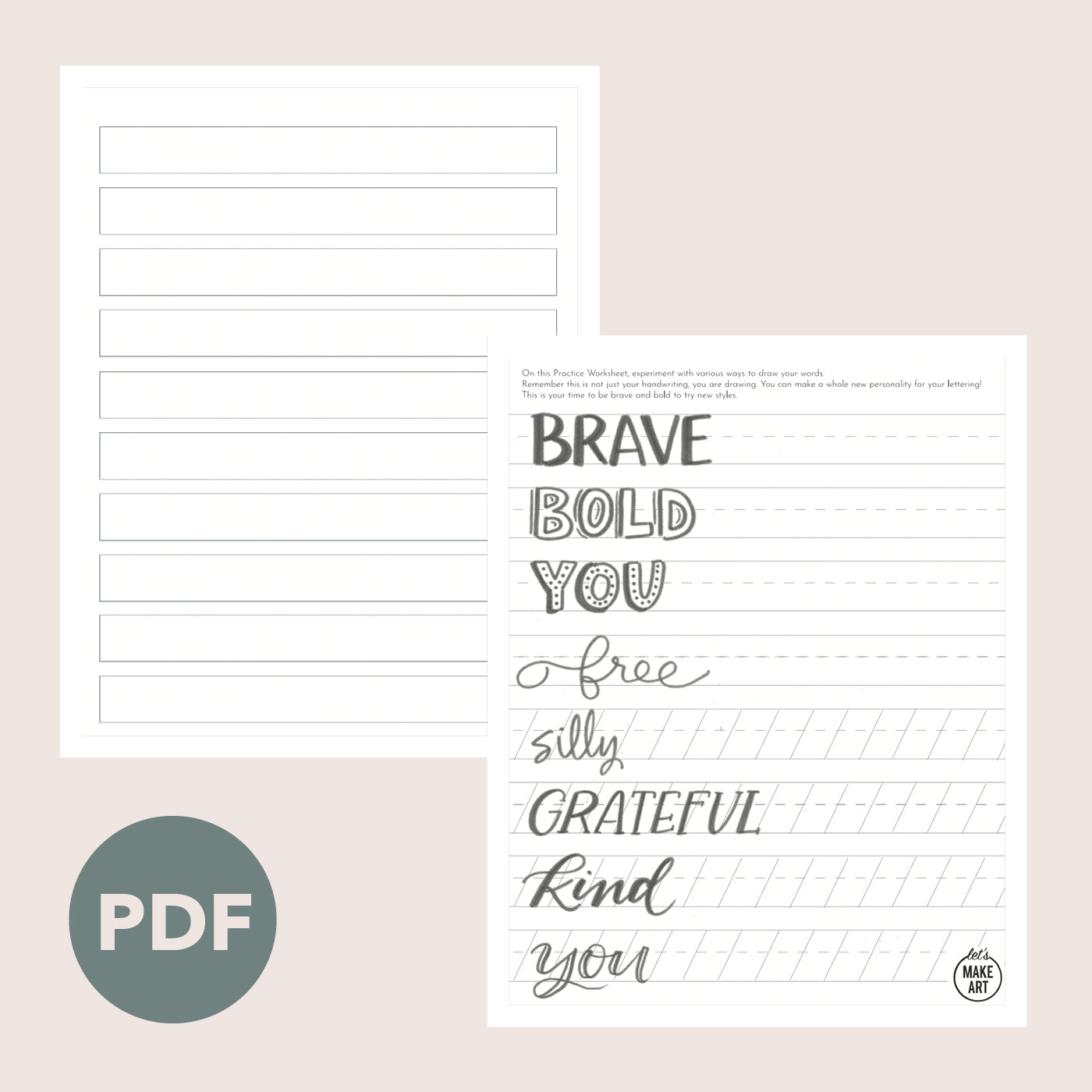 Be Brave Be You Practice Sheets