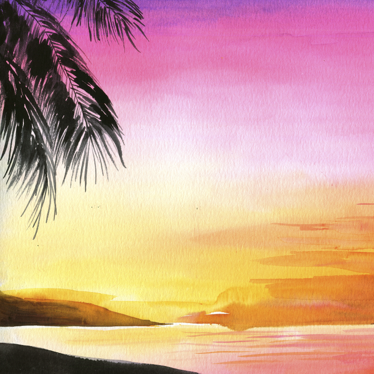 Tropical Sunset Watercolor Kit
