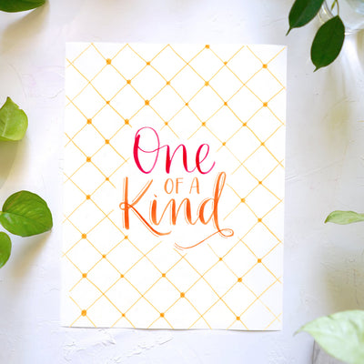 One of A Kind Lettering Kit