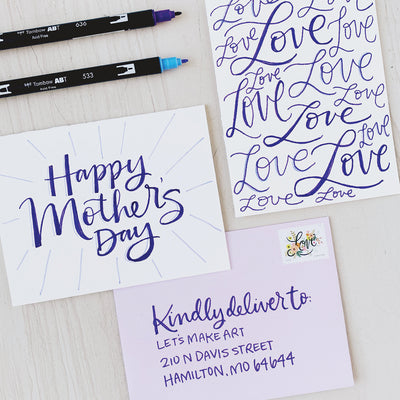 Mother's Day Cards Lettering Kit