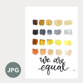 """Equal"" - 8x10 Art Printable by Aisha Richardson"