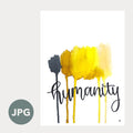 """Humanity"" - 8x10 Art Printable by Aisha Richardson"