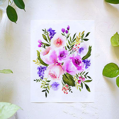 All the Purple Flowers Watercolor Kit
