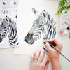 Zebra Watercolor Kit