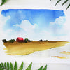 Barnyard Landscape Watercolor Paint Kit