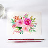 Pink Florals Watercolor Kit