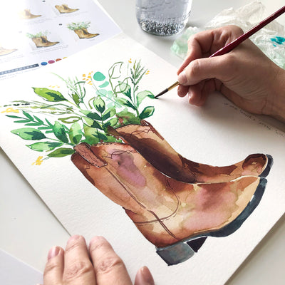 Cowboy Boots Watercolor Kit