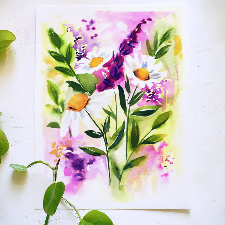 Daisy Delight Watercolor Kit