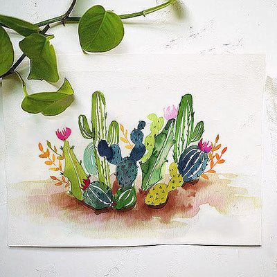 Desert Cactus Watercolor Kit