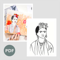 Frida Collage Outline