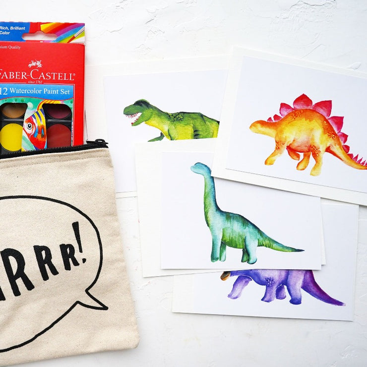 Watercolor Dinosaur Kit for Kids