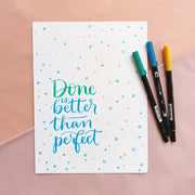 Done Is Better Lettering Kit