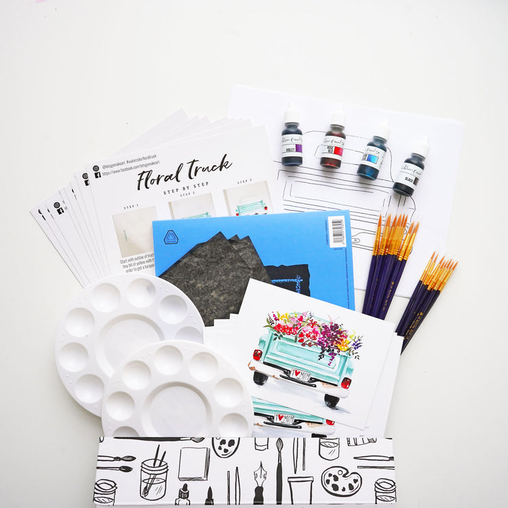 Floral Truck Paint Party Pack