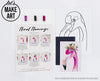 Floral Flamingo Watercolor Paint Kit