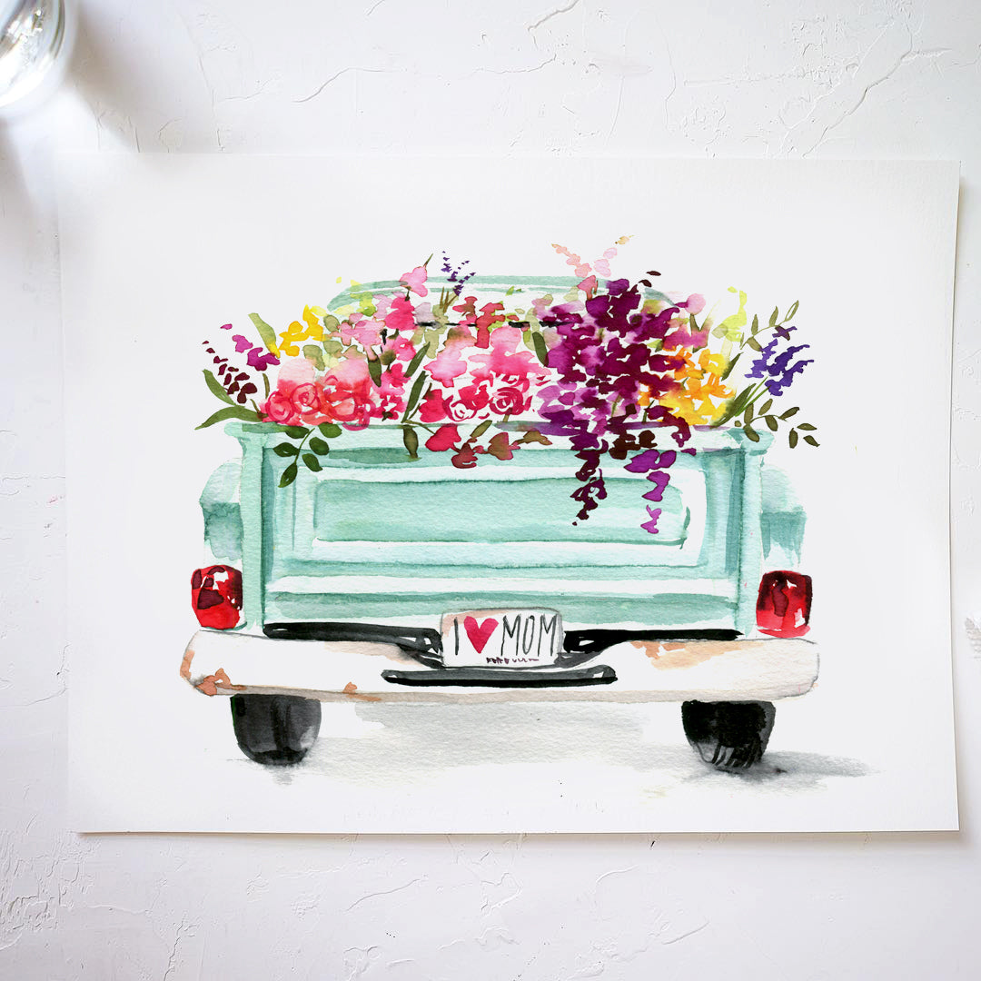 Floral Truck Watercolor Kit