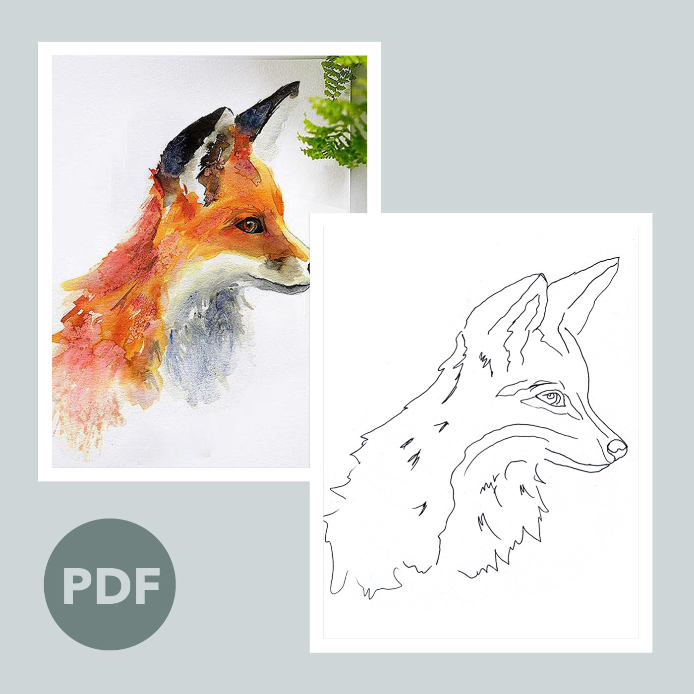Foxy Fox Outline