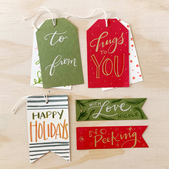 Gift Tags Lettering Kit