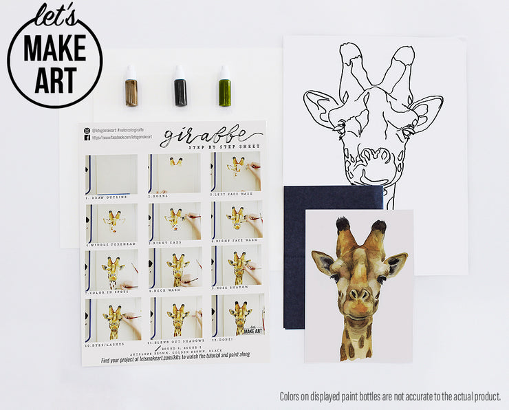 Giraffe Watercolor Kit