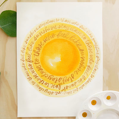 Gold Sunshine Lettering Kit