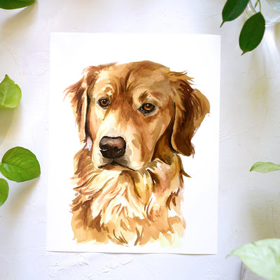 Golden Retriever Watercolor Kit