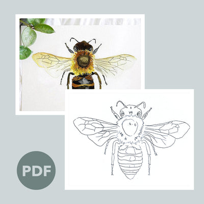 Honey Bee Outline