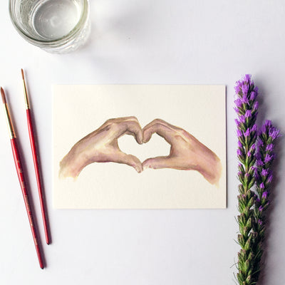 Heart Hands Watercolor Kit