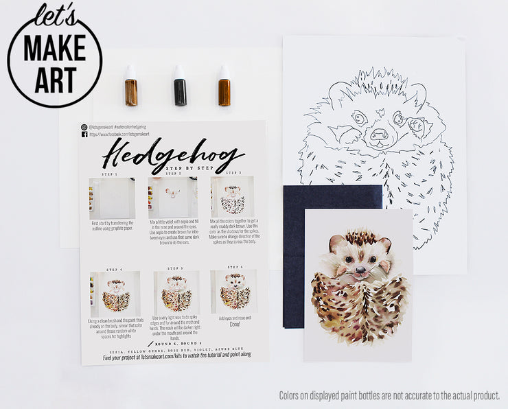Hedgehog Watercolor Kit