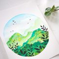 Surreal Mountains Watercolor Kit