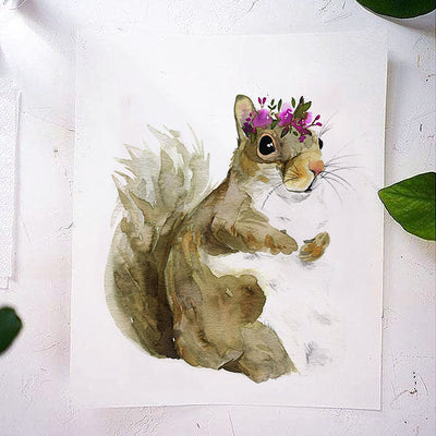 Jill the Squirrel Watercolor Kit