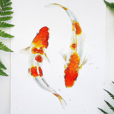 Koi Fish Watercolor Kit