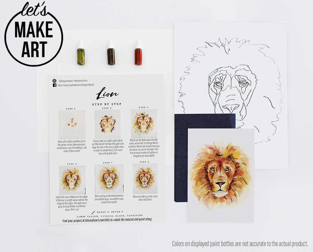 Lion Watercolor Kit Let S Make Art See more ideas about lion face, tattoo outline, lion tattoo. let s make art