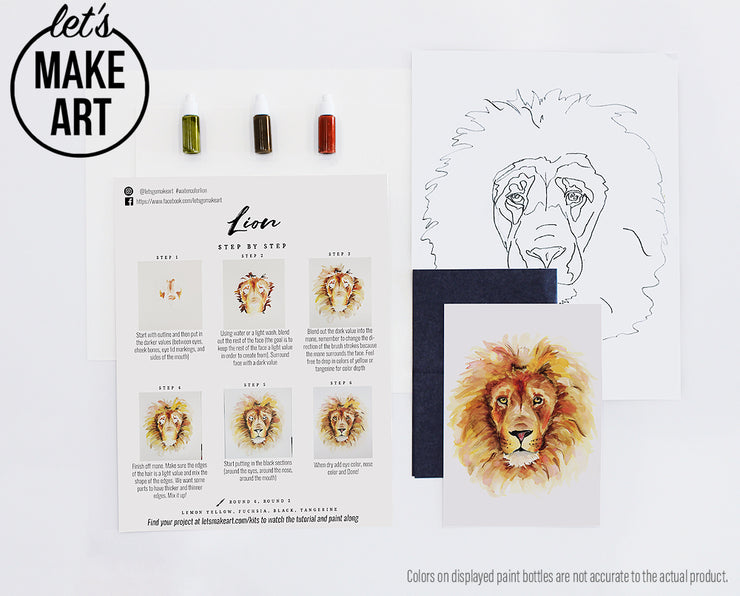 Lion Watercolor Kit