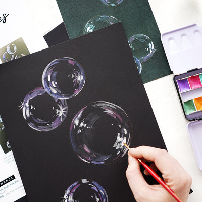 Metallic Bubbles Watercolor Kit