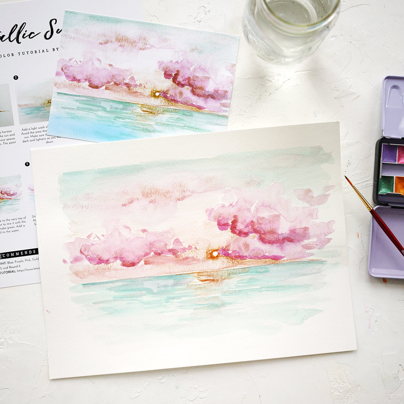 Metallic Sunrise Watercolor Kit