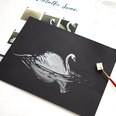 Metallic Swan Watercolor Kit