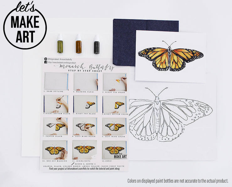 Monarch Butterfly Watercolor Kit
