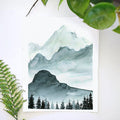 Monochrome Mountains Watercolor Kit