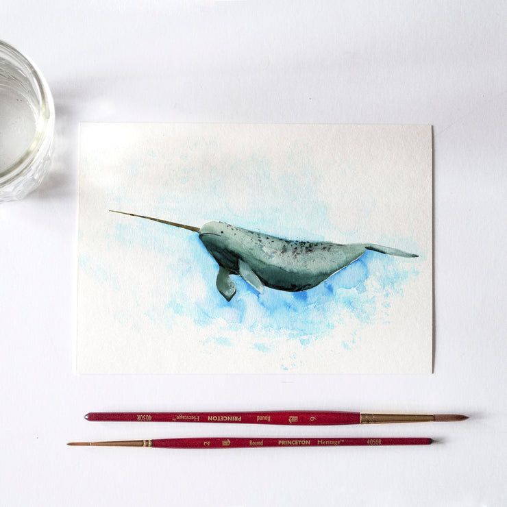Narwhal Watercolor Kit & Tutorial