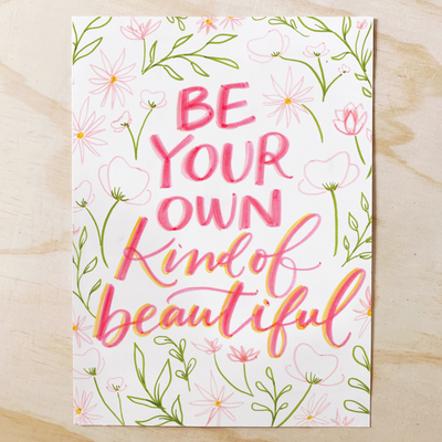 Own Kind of Beautiful Lettering Kit