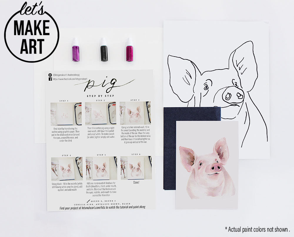 Piggy Pig Watercolor Paint Kit Let S Make Art