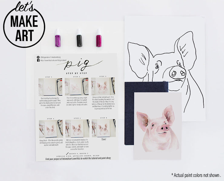 Piggy Pig Watercolor Kit